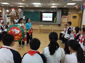 Title: Mobile Jinshan peasant painting, Grade five in primary school, shanghai